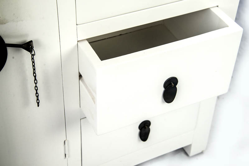 Buffet two doors 8 drawers console table cabinet g for Sofa table with drawers and doors