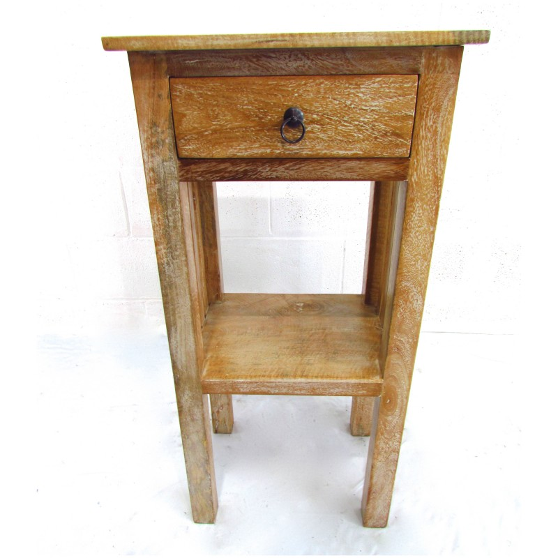 phone table. solid mahogany one drawer phone table / side (gd-109)