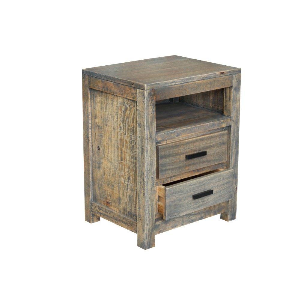 Bed side table side table 2 drawer gd 174 g d for Bed and side tables