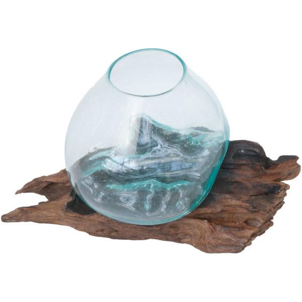 Vintage hand blown glass bowl terrarium fish bowls g d for Glass fish bowl