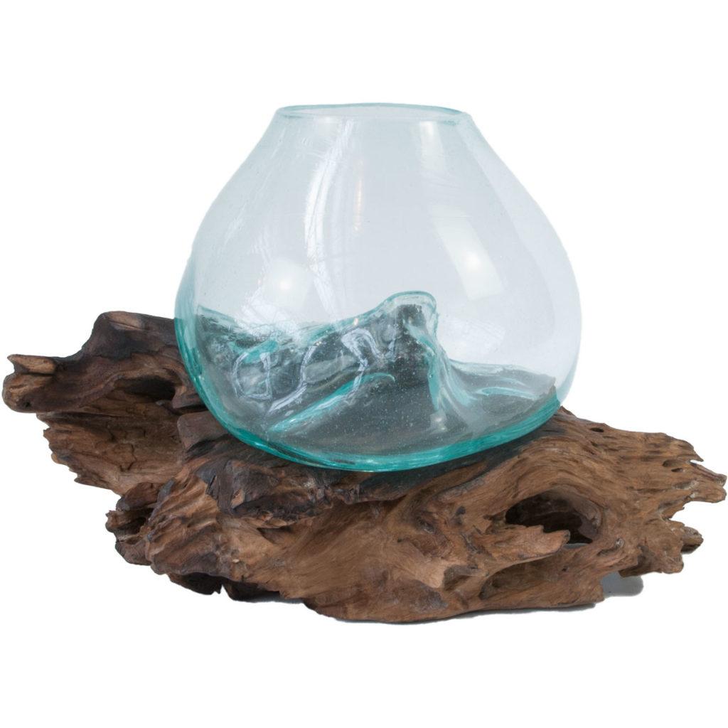 Vintage hand blown glass bowl terrarium fish bowls g d for Fish bowl glass