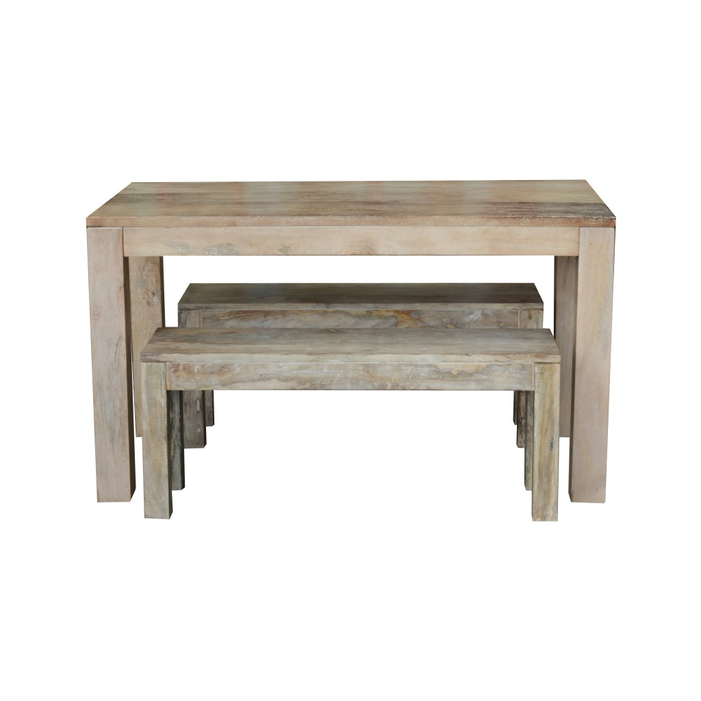Dining Table Set Two Benches Dining Table Gd 04c G